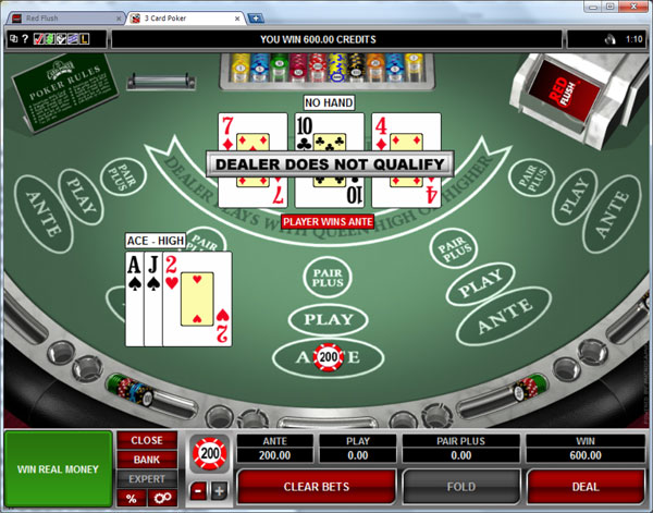 three card poker casino online